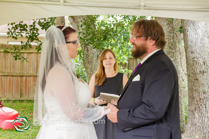 Intimate Orlando Backyard Wedding Photos