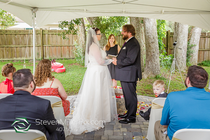 Intimate Orlando Backyard Wedding Photos